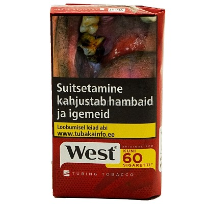West Red Suitsetamistubakas 30g