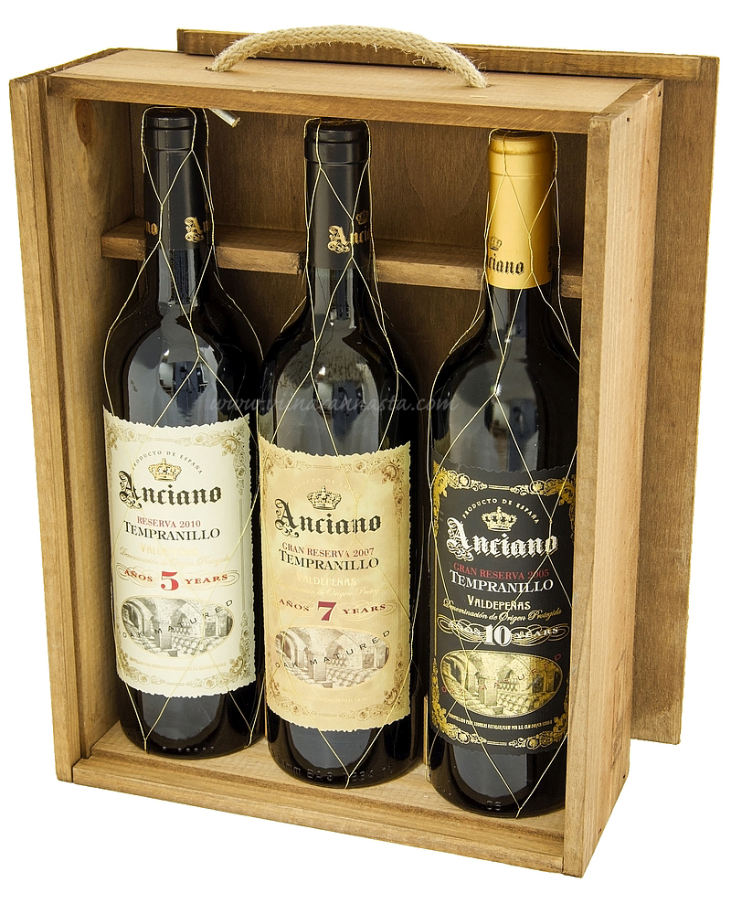 Anciano Tempranillo Giftbox 13% 3x75cl