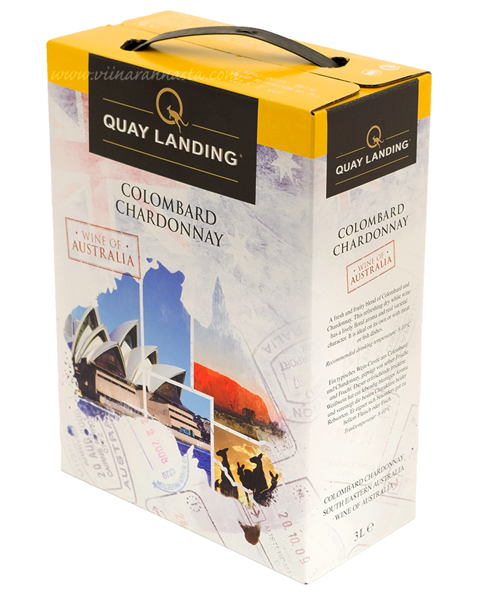 Quay Landing Colombard Chardonnay 12% 300cl BIB