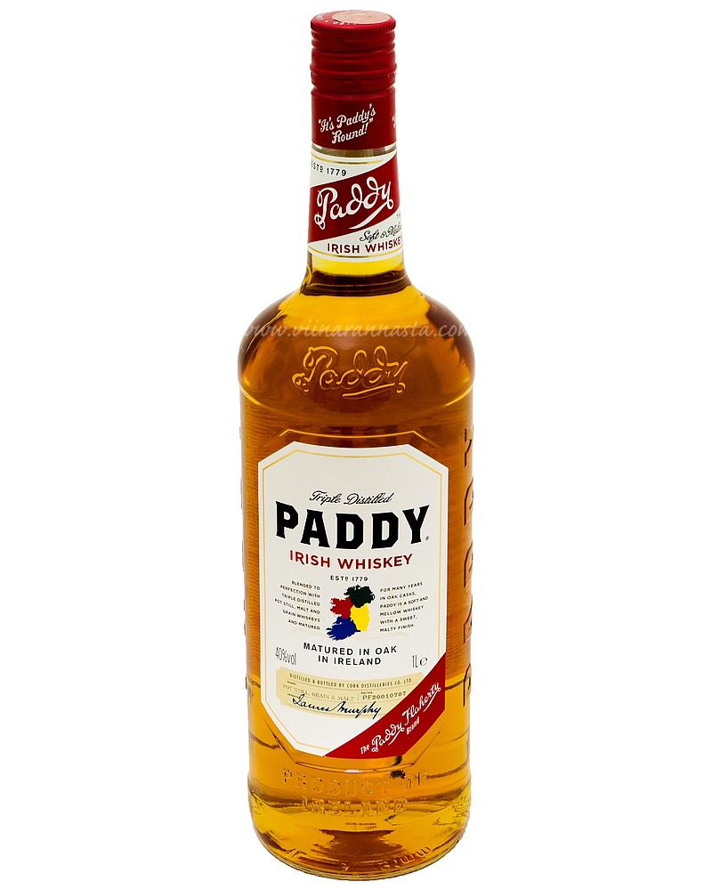 Paddy Irish Whiskey Triple Distilled 40% 100cl