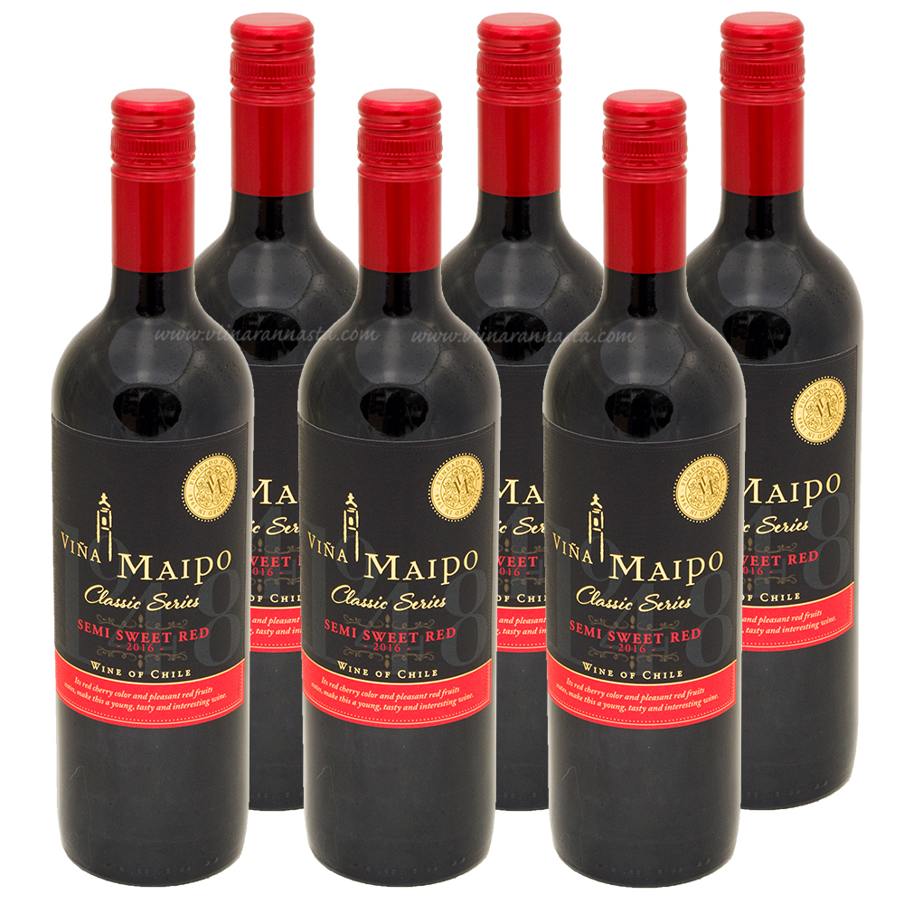 Vina Maipo Semi Sweet Red 12% 6x75cl