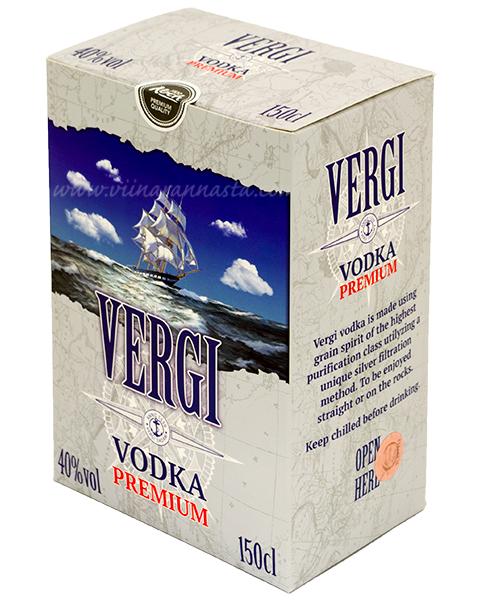 Vergi Premium Vodka 40% 150cl BIB