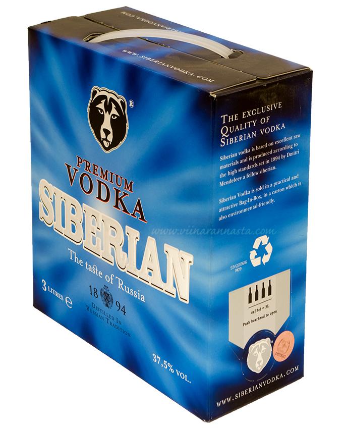 Siberian Premium Vodka 37,5% 300cl BIB