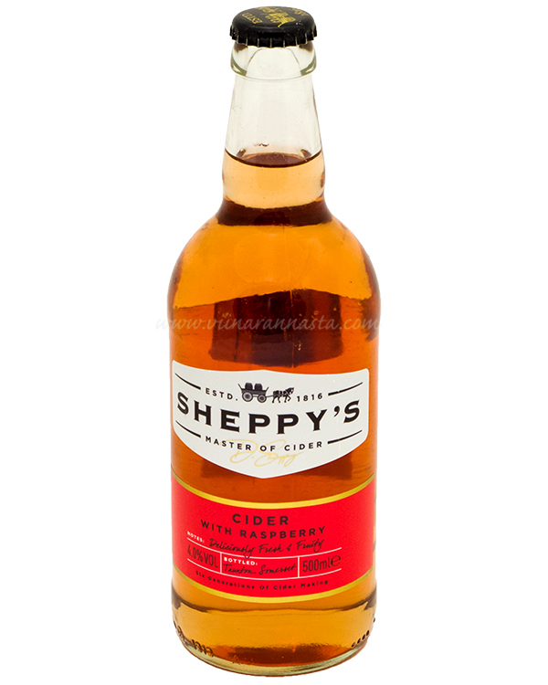 Sheppys Raspberry Cider 4% 50cl