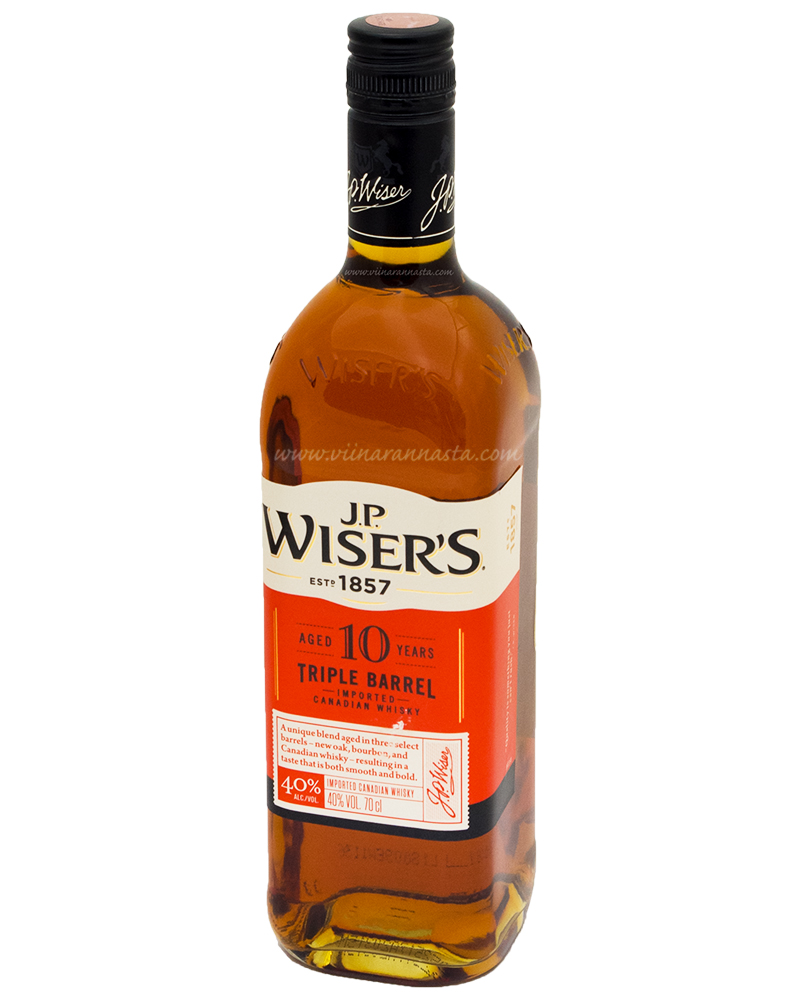JP Wisers 10YO Triple Barrel 40% 70cl