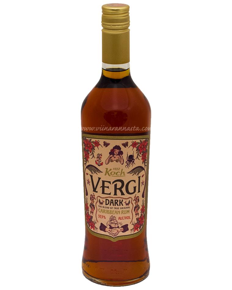 Vergi Dark Caribbean Rum 37,5% 70cl