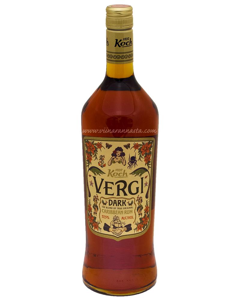 Vergi Dark Caribbean Rum 37,5% 100cl
