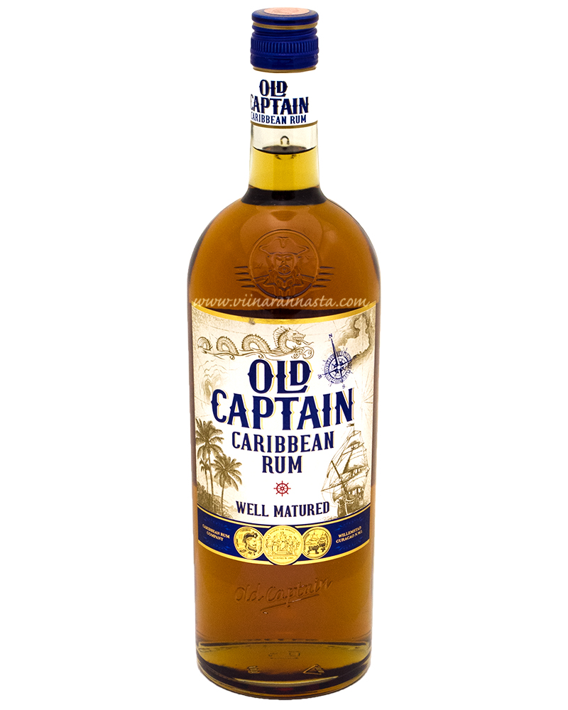 Old Captain Dark Caribbean Rum 37,5% 100cl