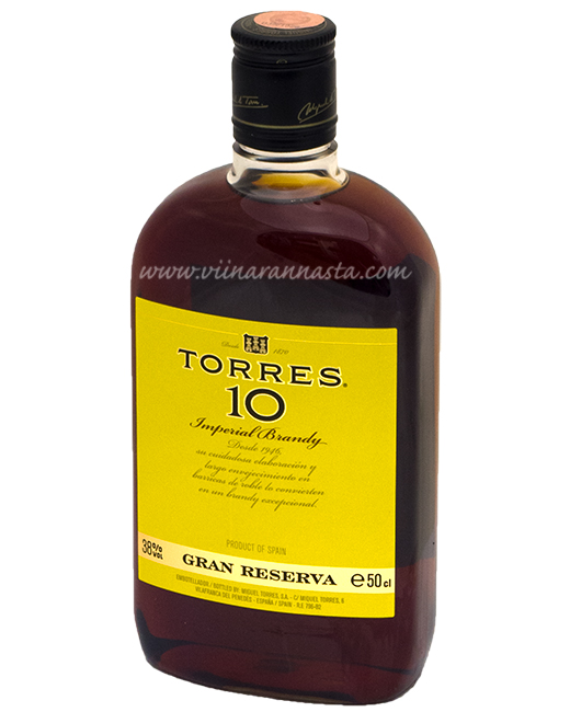 Torres 10YO Brandy 38% 50cl PET
