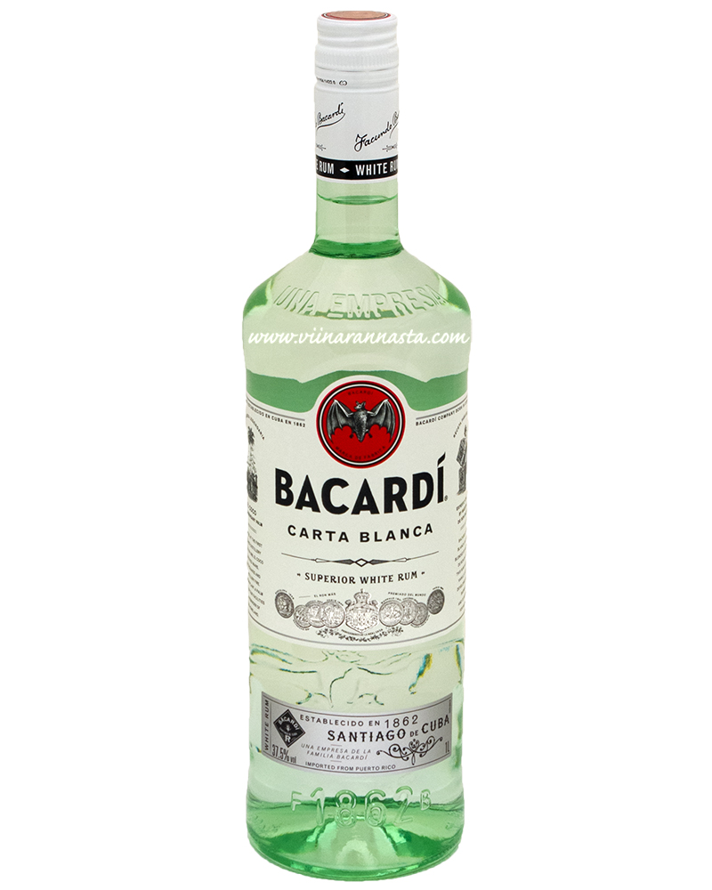 Bacardi Carta Blanca 37,5% 100cl