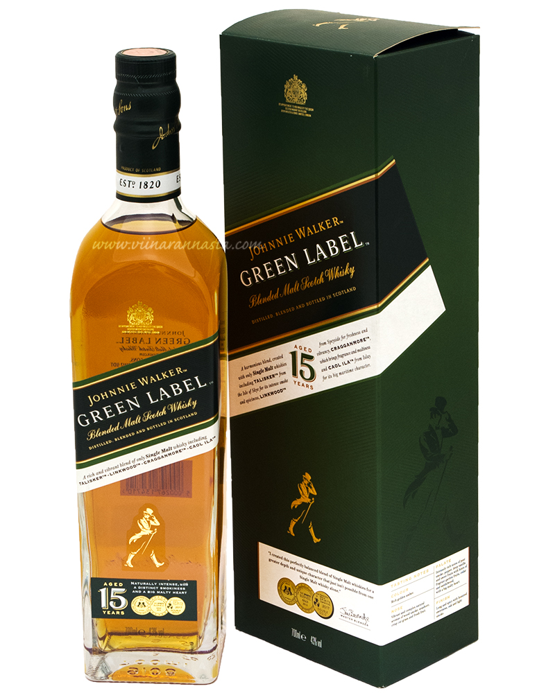 Johnnie Walker Green Label 43% 70cl