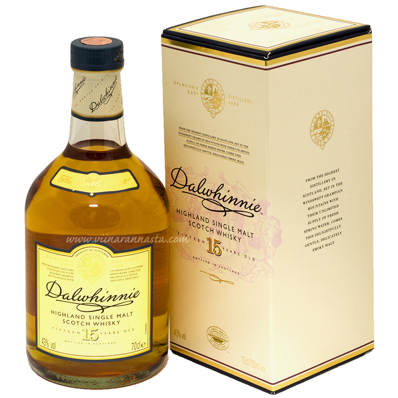 Dalwhinnie 15YO Single Malt Highland  43% 70cl