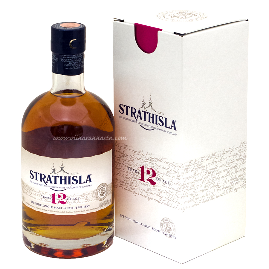Strathisla 12YO Speyside Single Malt Scotch Whisky 40% 70cl