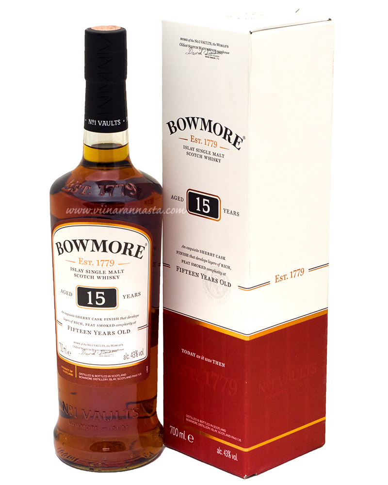Bowmore Darkest 15YO 43% 70cl