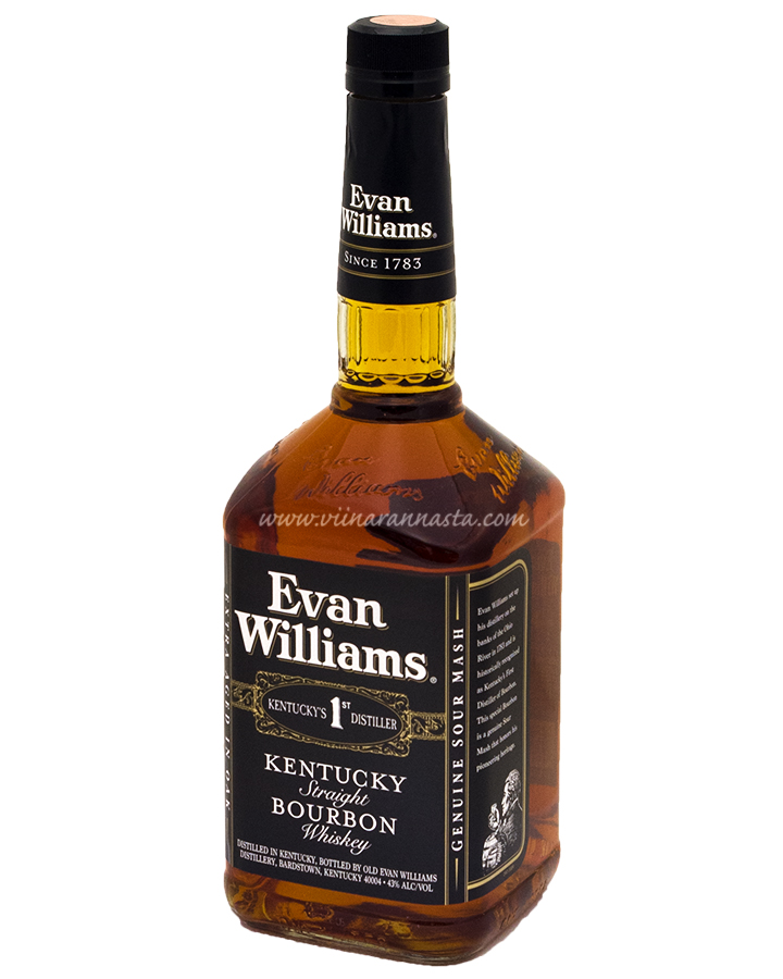 Evan Williams Black Whiskey 43% 100cl