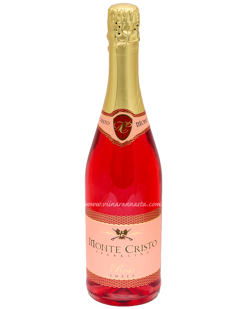 Monte Cristo Sparkling Rose Sweet 10% 75cl