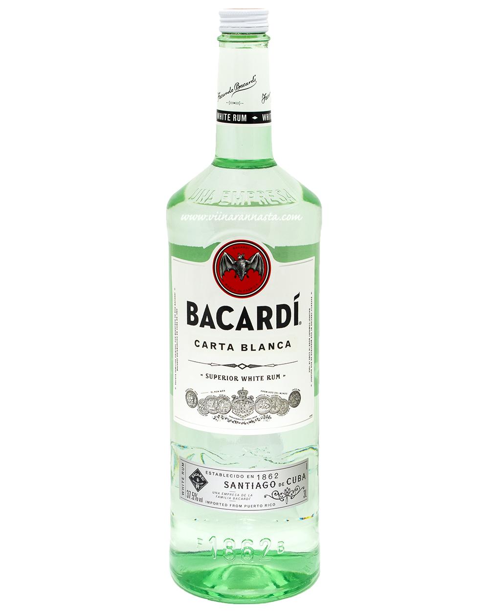 Bacardi Carta Blanca 37,5% 300cl