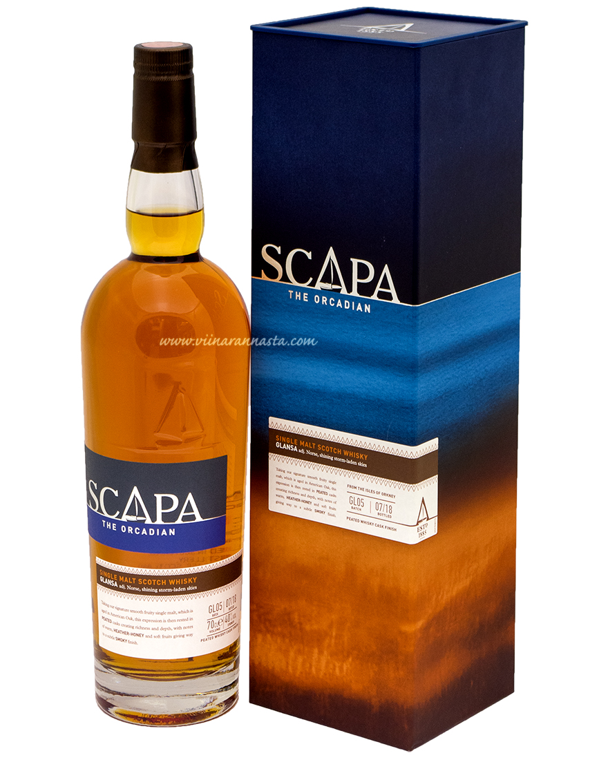 Scapa Glansa Single Malt 40% 70cl