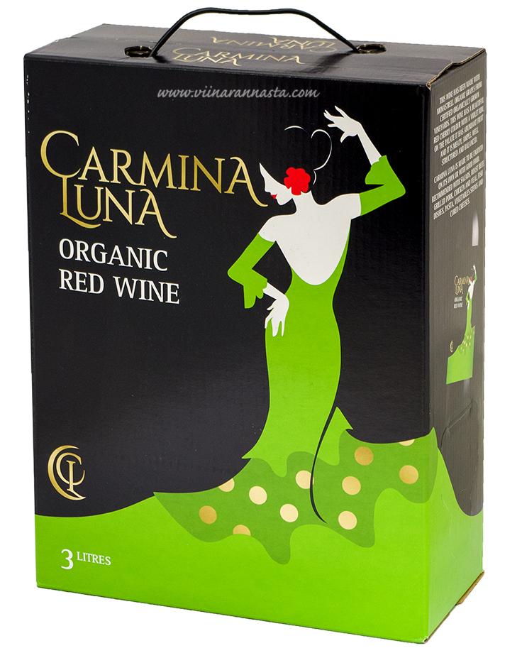 Carmina Luna Red Wine Organic 14,5% 300cl BIB