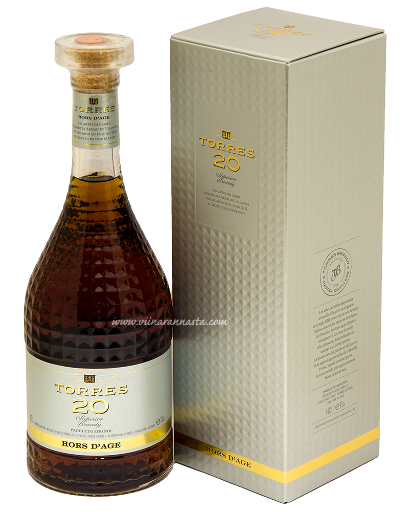 Torres 20 Hors d Age Brandy 40% 70cl