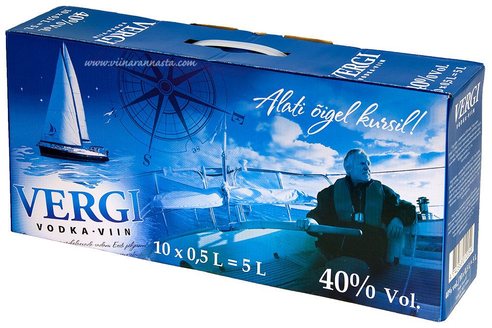 Vergi Vodka 40% 10x50cl PET BOX