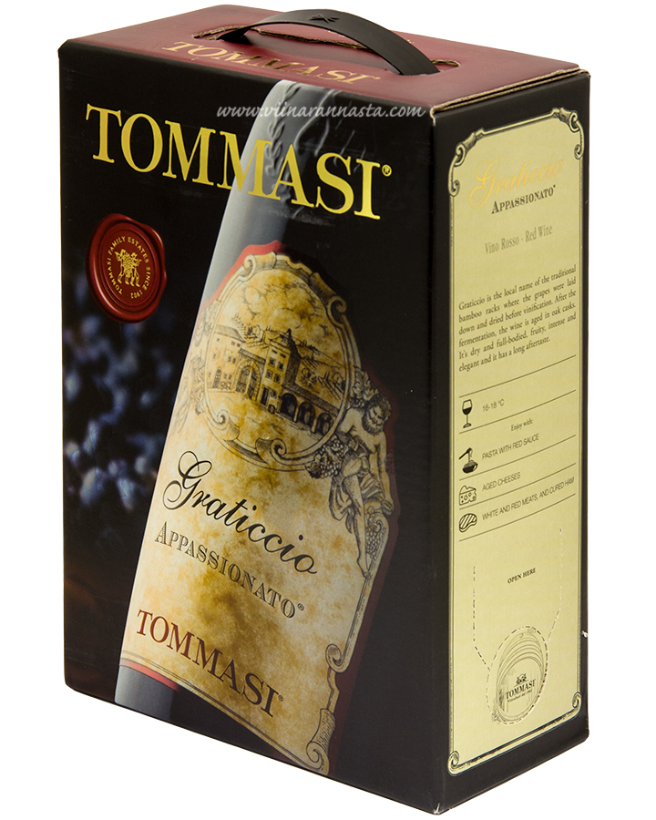 Tommasi Appassionato Graticcio Red 12,5% 300cl BIB