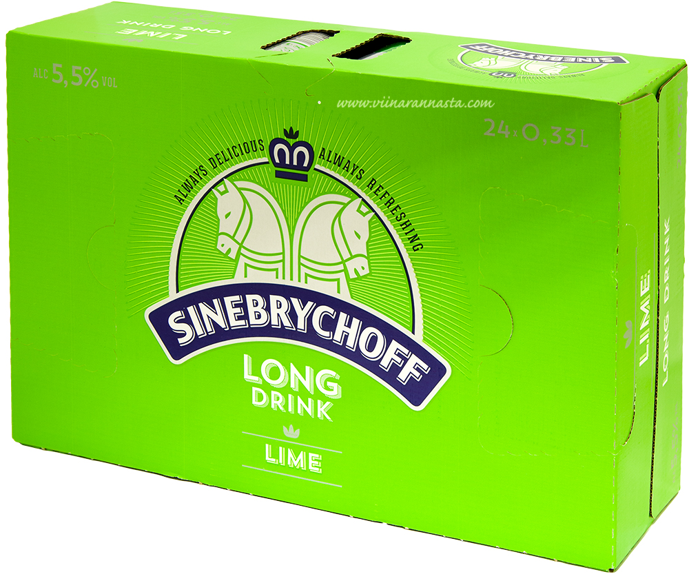 Sinebrychoff Long Drink Lime 5,5% 24x33cl