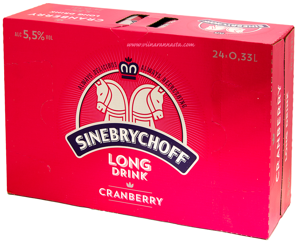 Sinebrychoff Long Drink Cranberry 5,5% 24x33cl