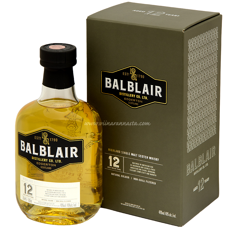 Balblair 12YO Single Malt 46% 70cl