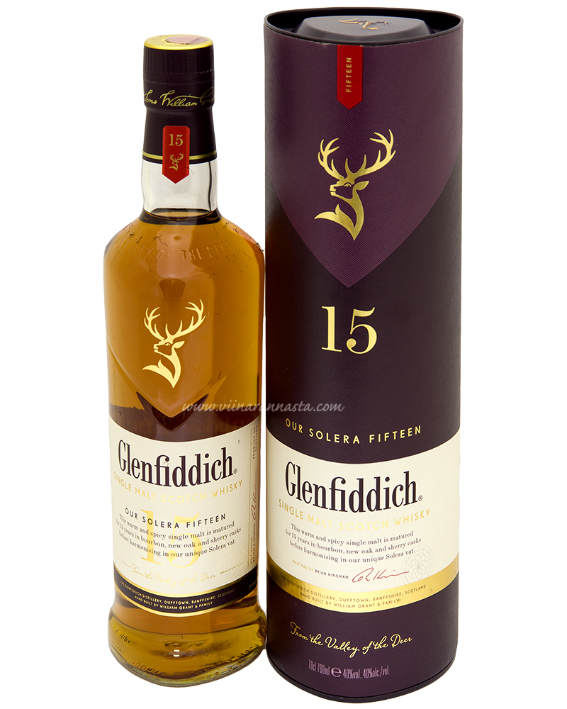 Glenfiddich 15YO Single Malt 40% 70cl TUBE