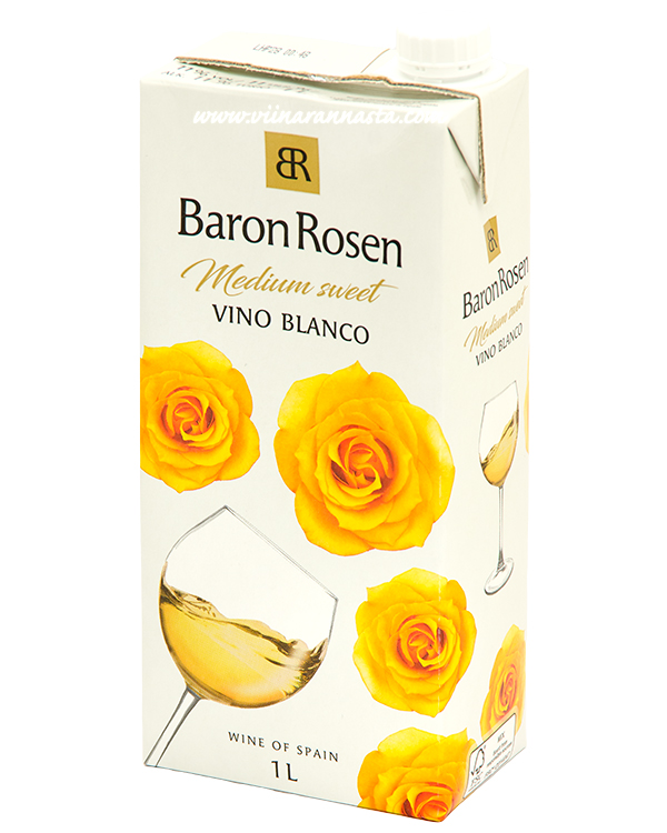 Baron Rosen Vino Blanco Medium-Sweet 11%  1L  TETRA