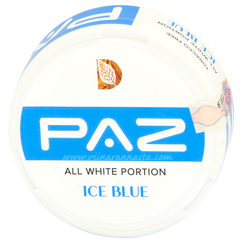 PAZ Ice Blue all white portion (nicotine pads)