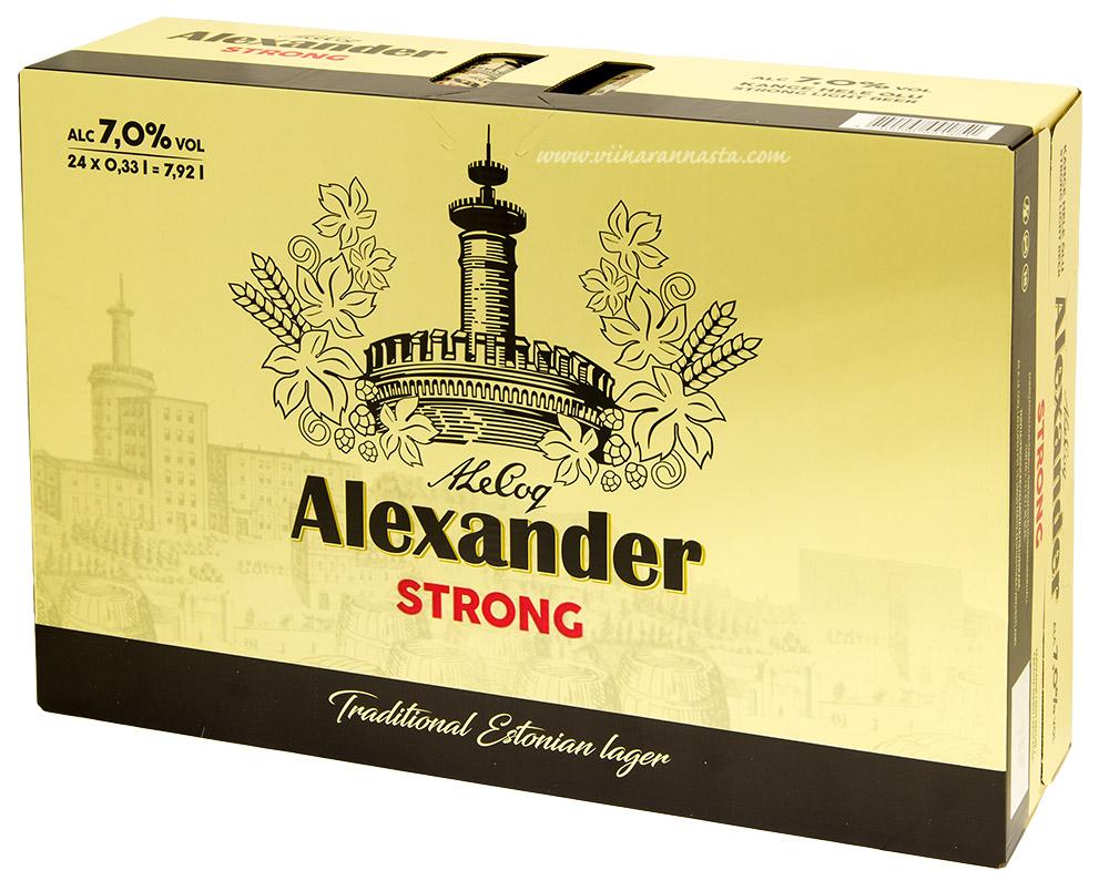 A.Le Coq Alexander Strong 7% 24x33cl TIN
