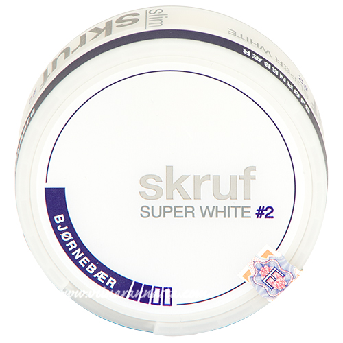 Skruf Super White Slim Björnebär#2 (nicotine pads)