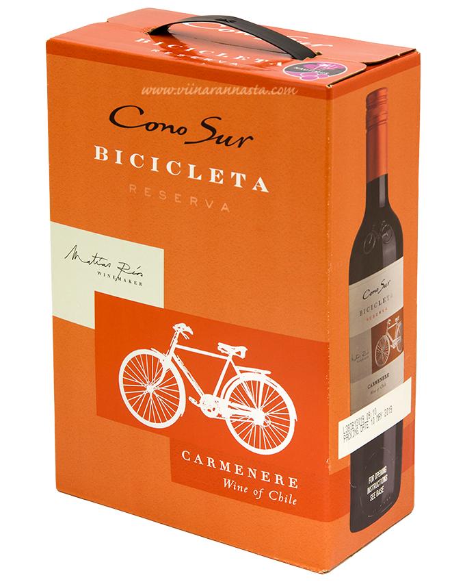 Cono Sur Bicicleta Reserva  Carmenere 13,5% 300cl BIB