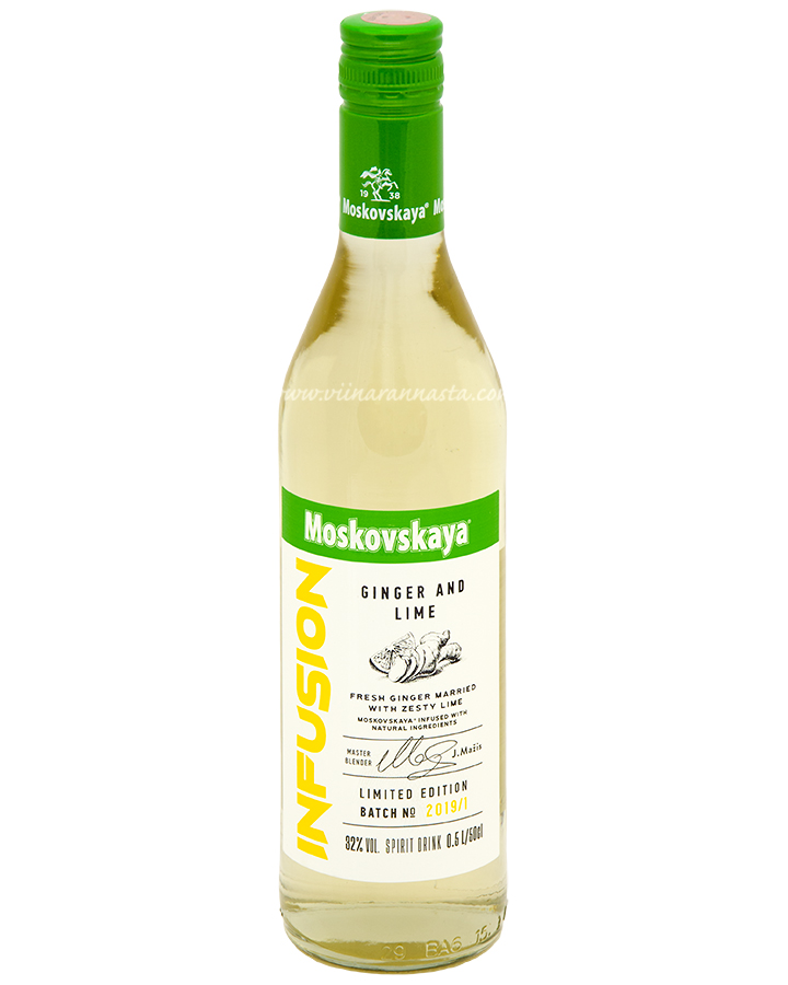 Moskovskaya Infusion Ginger and Lime 32% 50cl