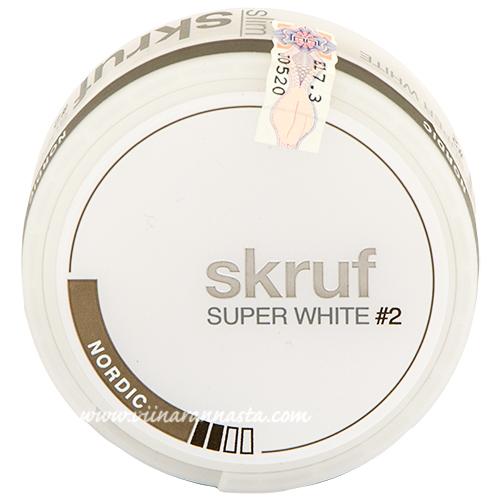 Skruf Super White Nordic #2 (nicotine pads)