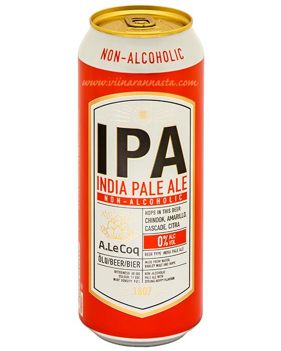 A.Le.Coq IPA 0% Alkoholivaba 50cl TIN
