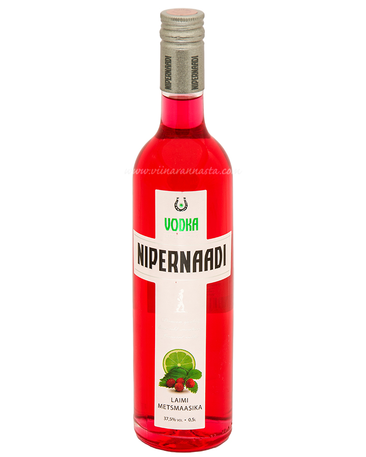 Nipernaadi Lime Wild Strawberry Flavoured Vodka 37,5% 50cl