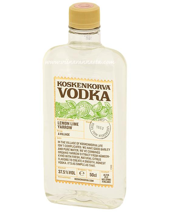 Koskenkorva Lemon Lime Yarrow 37,5% 50cl PET