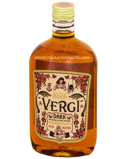 Vergi Dark Caribbean Rum 37,5% 50cl PET