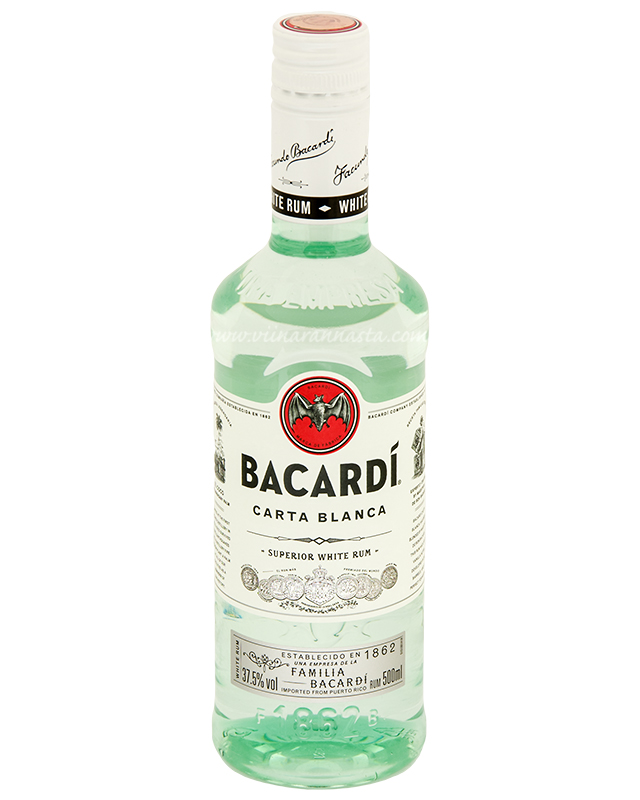 Bacardi Carta Blanca 37,5% 50cl PET