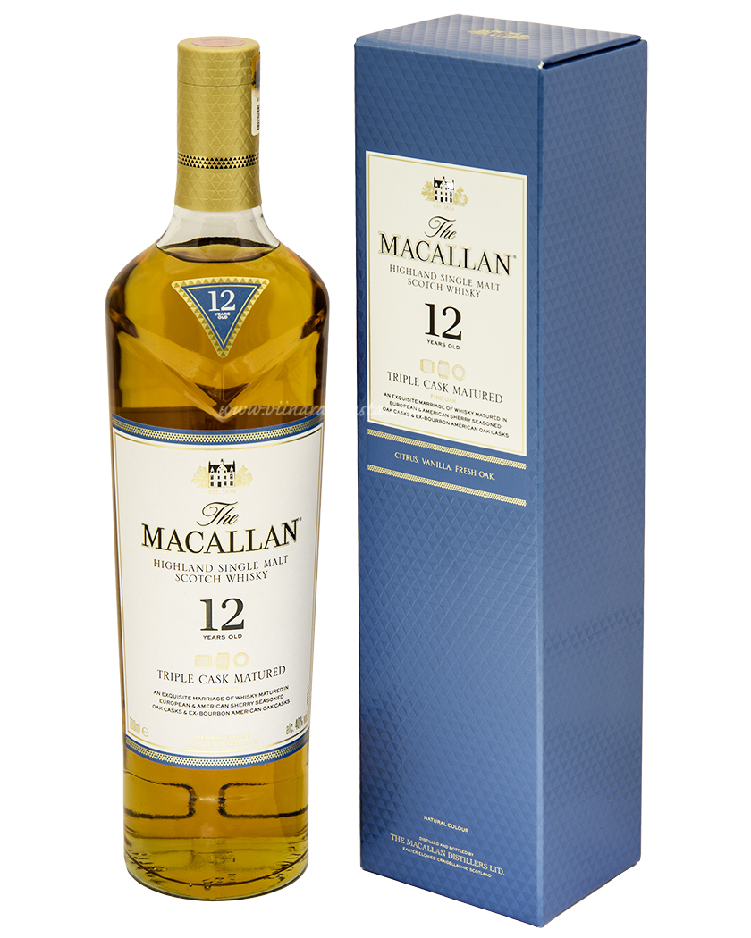 The Macallan 12YO Highland Single Malt 40% 70cl