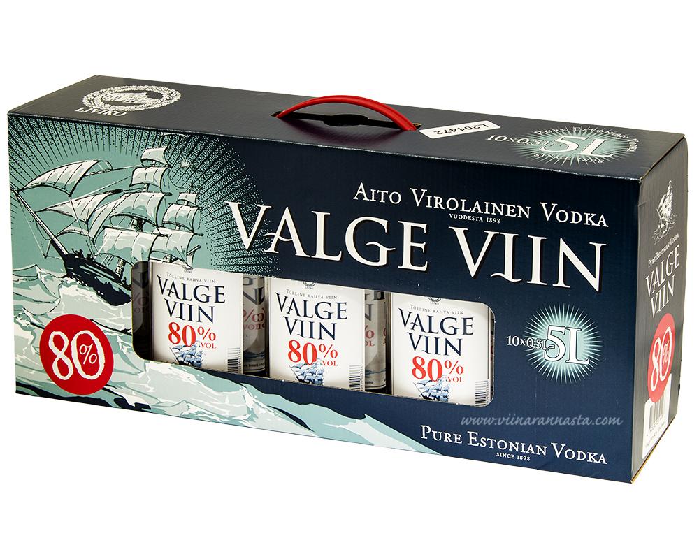 Valge Viin 80% 10x50cl BOX