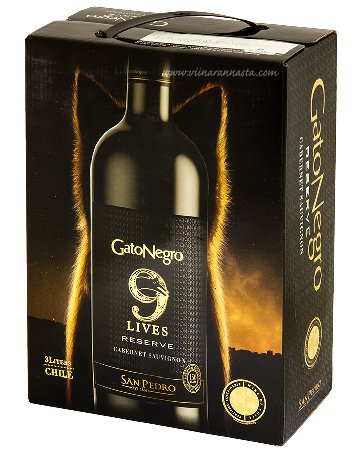 Gato Negro 9 Lives Reserve Cabernet Sauvignon 13,5% 300cl BIB