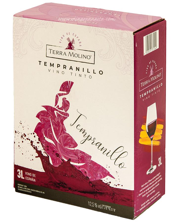 Terra Molino Tempranillo 12,5% 300cl BIB