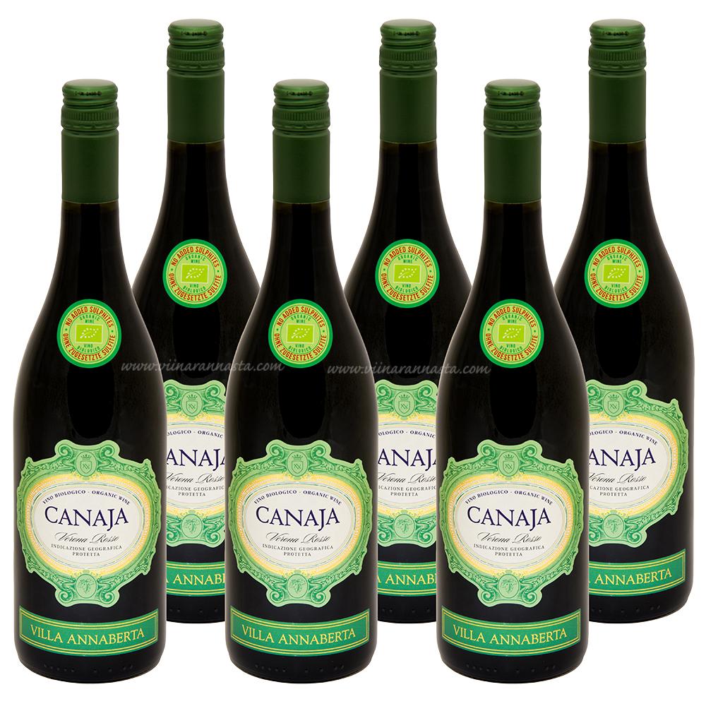 Villa Annaberta Canaja Verona Rosso Organic (No Sulphites) 13,5% 6x75cl