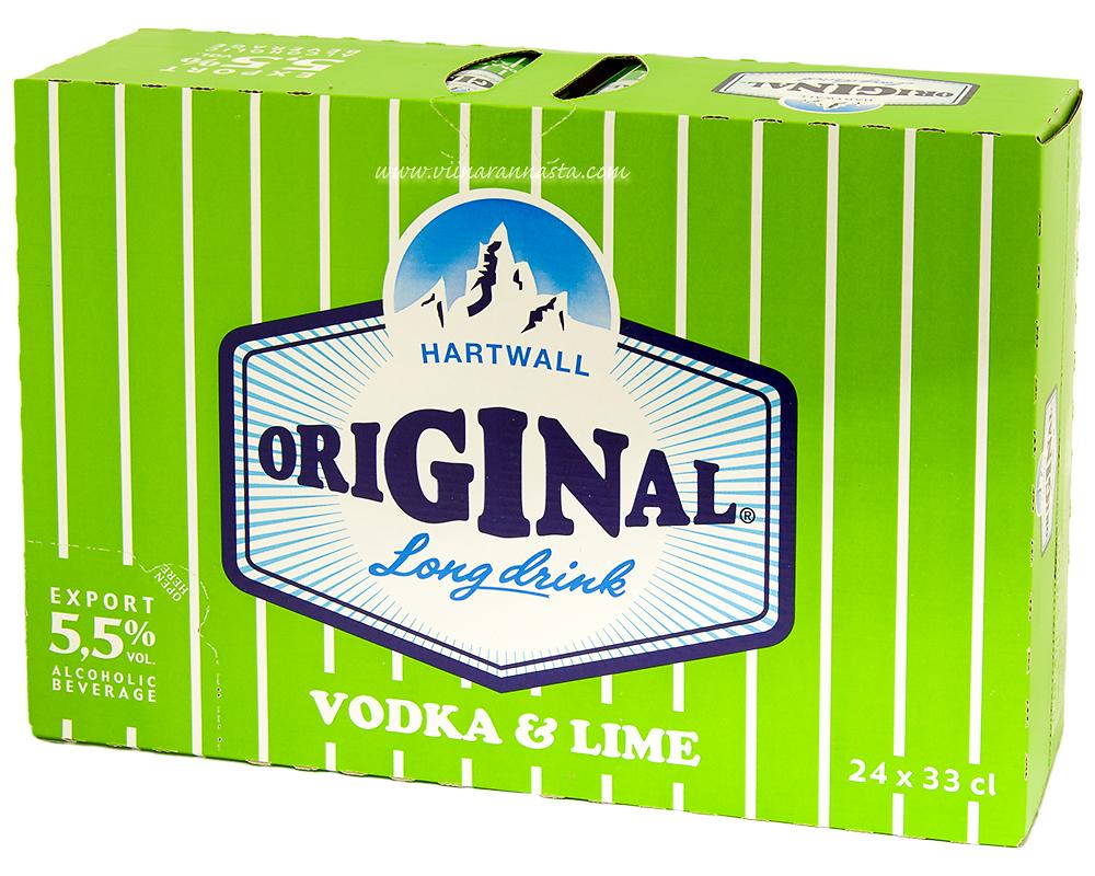 Hartwall Original Long Drink Vodka & Lime 5,5% 24x33cl