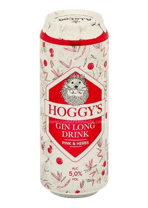 Hoggys Gin Long Drink Pink & Herbs 5% 50cl TIN